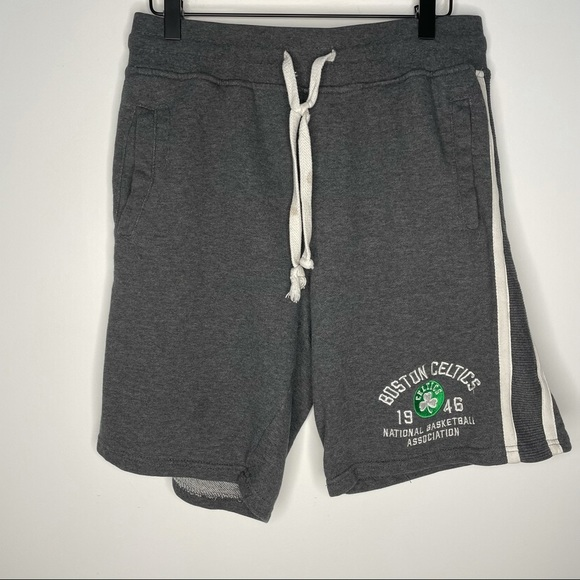 NBA Boston Celtics Gray Drawstring Sweat Shorts M
